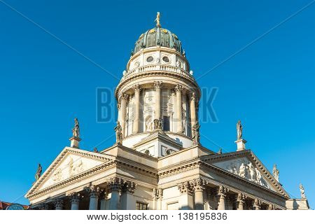 The German Cathedral at the Gendarmenmarkt in Berlin, Germany
