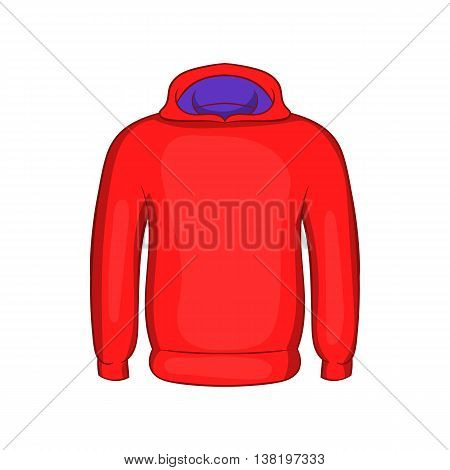 Mens winter sweatshirt icon in cartoon style isolated on white background. Clothing symbol