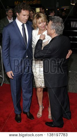 Will Ferrell, Dustin Hoffman and Emma Thompson at the Los Angeles premiere of 'Stranger Than Fiction' held at the Mann Village Theatre in Westwood, USA on October 30, 2006.