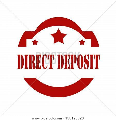 Red stamp with text Direct Deposit,vector illustration