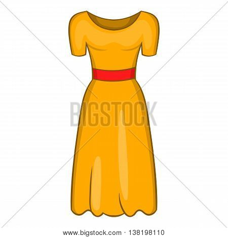Womens fancy dress icon in cartoon style isolated on white background. Clothing symbol