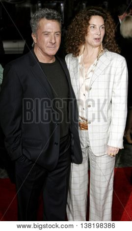 Dustin Hoffman and wife at the Los Angeles premiere of 'Stranger Than Fiction' held at the Mann Village Theatre in Westwood, USA on October 30, 2006.