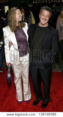 Lindsay Doran and Dustin Hoffman at the Los Angeles premiere of 'Stranger Than Fiction' held at the Mann Village Theatre in Westwood, USA on October 30, 2006.