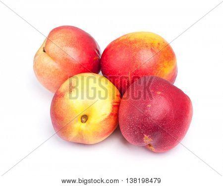 Nectarines isolated on white background
