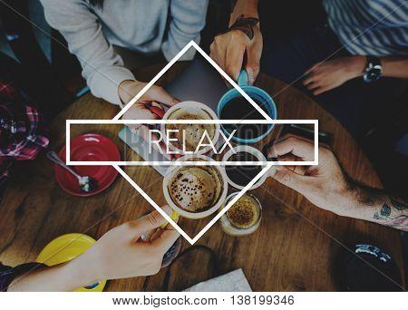 Happy Live Life Enjoyment Relax Concept