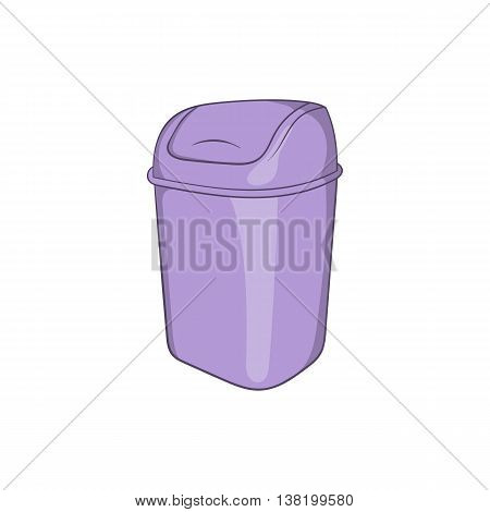 Toilet trash icon in cartoon style isolated on white background. Garbage symbol