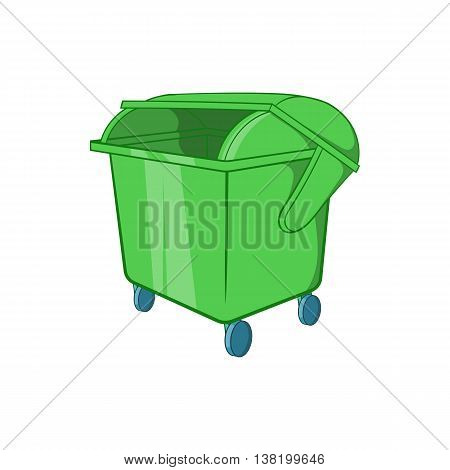 Dumpster icon in cartoon style isolated on white background. Garbage symbol