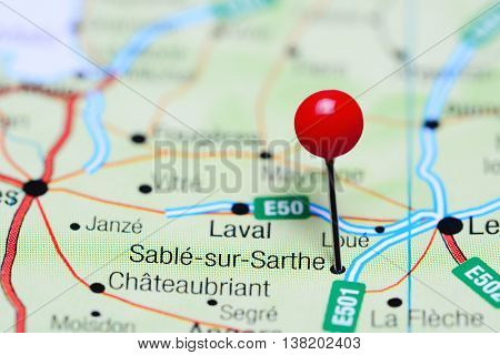 Sable-sur-Sarthe pinned on a map of France