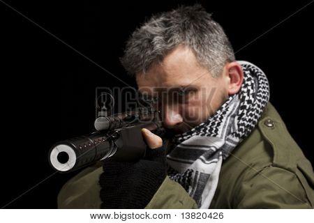 Terroristische Whit Gun