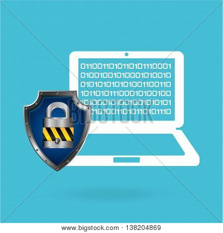 cloud security protection data center isolated, vector illustration