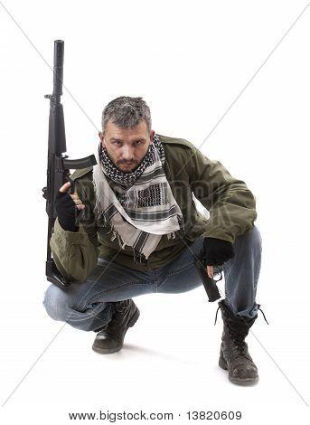 Terroristen mit gun