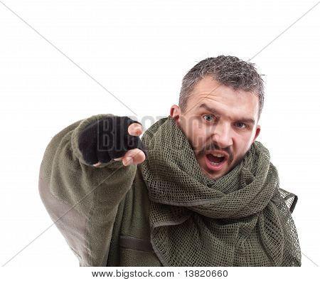 Terrorist zeigen für Sie