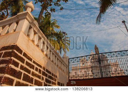 A Temple In Goa. Church Of Our Lady Of Mount Carmel. Arambol. India.