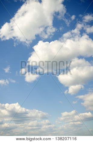 Sky daylight. Natural sky composition. Element of design.