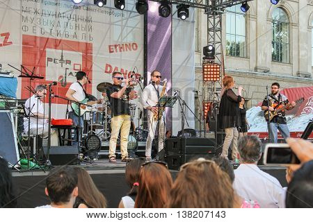 St. Petersburg, Russia - 2 July, Performance of jazz musicians, 2 July, 2016. Annual international festival of jazz and blues in St. Petersburg.