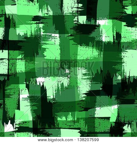 Raster military camouflage pattern. Green trendy color