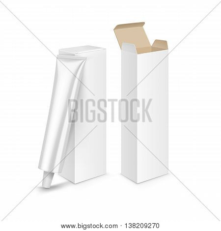 Vector Hair Color Dye Shampoo Balsam Balm Mask Packaging Packing Pack Box Tube Isolated on Background