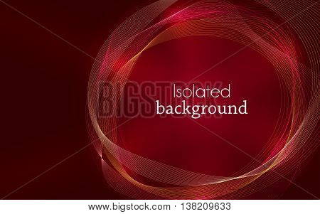 Red Abstract Mesh Background with Circles Lines and Shapes. Design Layout for Your Business and desktop screen.