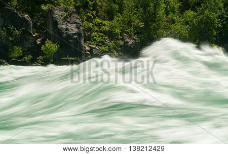 Niagara River At White Water Walk In Canada