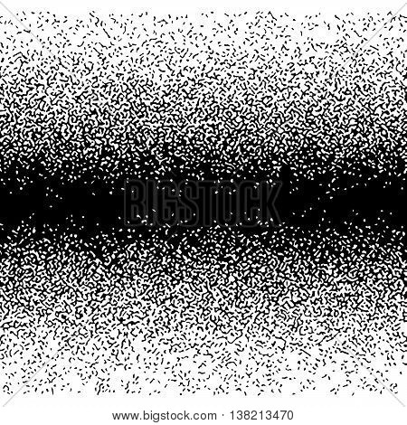 Gradient Seamless Background with Black and White Particles