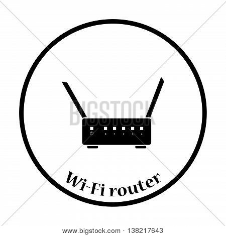 Wi-fi Router Icon Vector Illustration
