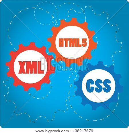 XML, Web design Programming language Vector illustration