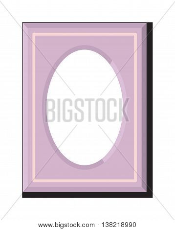 Vintage cartoon photo frame picture painting Stylish wall gallery background