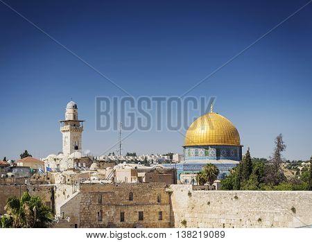 al aqsa famous mosque landmark in old town of jesuralem israel