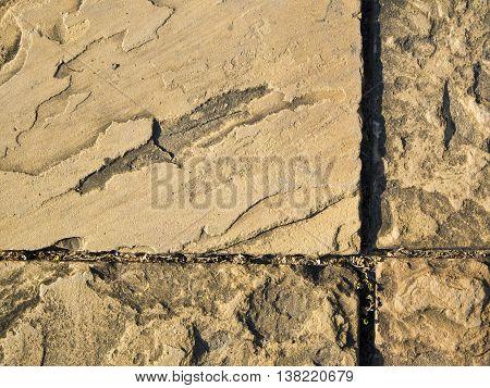 Sand Stone slabs walk way in Garden
