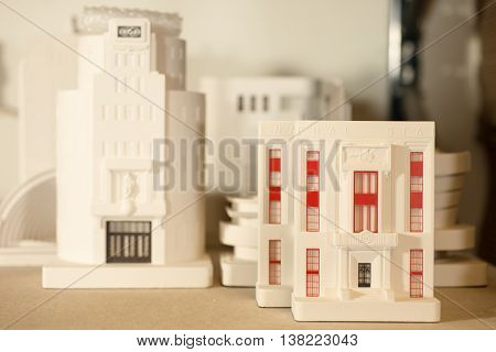 Plaster Scale Models Of Architectural Buildings