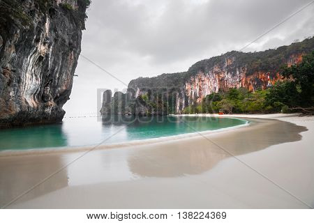 Huge mountains on island of Koh Hong, Krabi province, Thailand