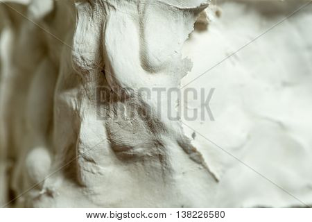 Close Up Of Caking Plaster For Abstract Or Backgrounds