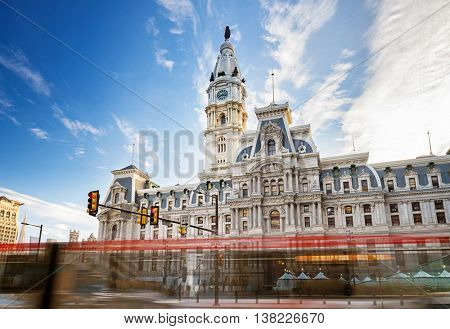 Historic City Hall in Philadelphia, USA