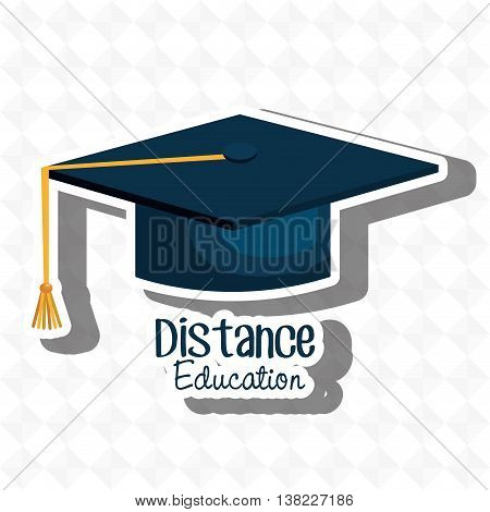 distance education isolated icon design, vector illustration  graphic