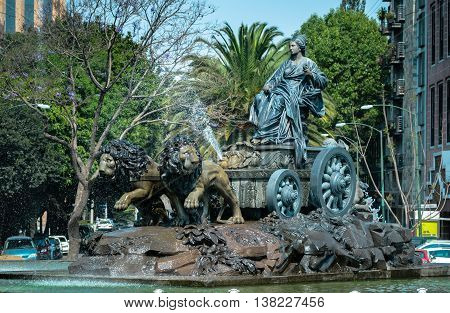 Cibeles Fountain Replica In Mexico City