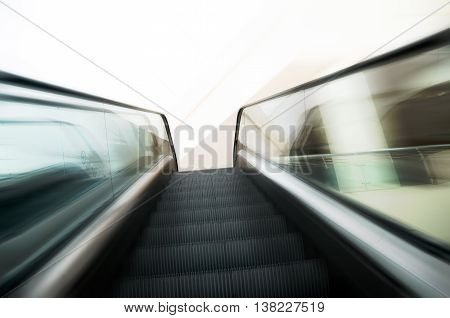 Escalators electric stairway zoom speed motion effect