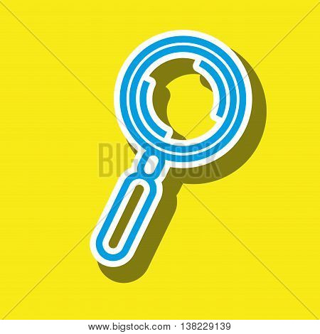 magnifyiing glass isolated icon design, vector illustration  graphic