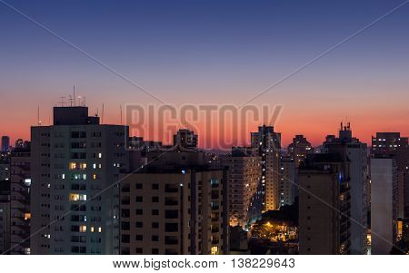 Twilight In The City Of Sao Paulo - Brazil