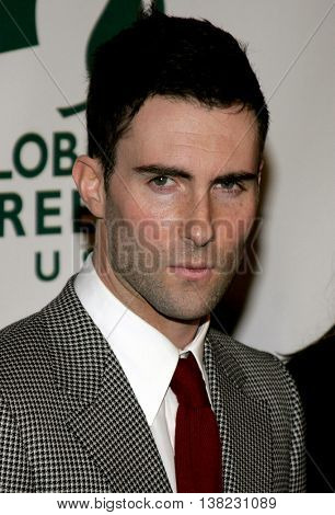 Adam Levine of Maroon 5 at the Global Green USA Pre-Oscar Celebration to Benefit Global Warming held at the Avalon in Hollywood, USA on February 21, 2007.