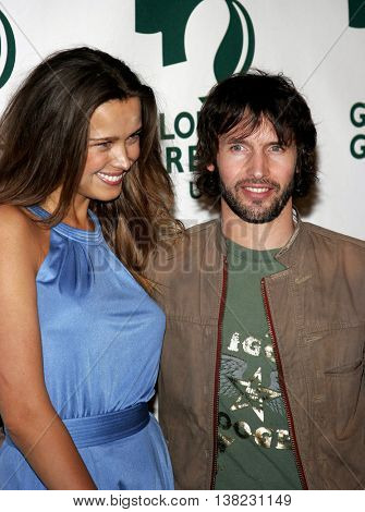 Petra Nemcova and James Blunt at the Global Green USA Pre-Oscar Celebration to Benefit Global Warming held at the Avalon in Hollywood, USA on February 21, 2007.