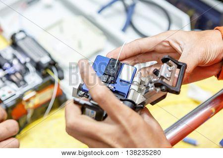 Fiber Optic Cable Splice Machine