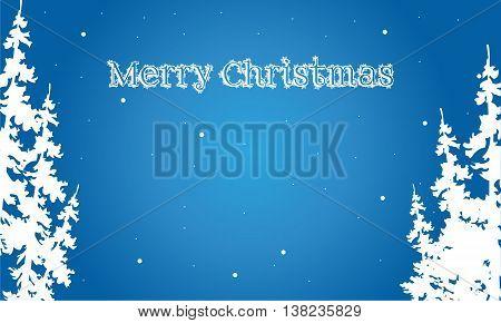 Flat backgrounds Merry Christmas spruce scenery illustration