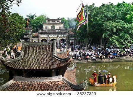 HA NOI, VIET NAM, March 16, 2016 Giong Temple Festival, suburban Ha Noi, Vietnam