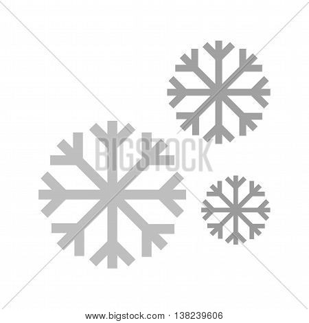Snow, snowfall, winter icon vector image. Can also be used for seasons. Suitable for use on web apps, mobile apps and print media.