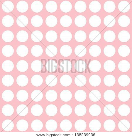 Pink abstract pattern with dots. Polka dots background