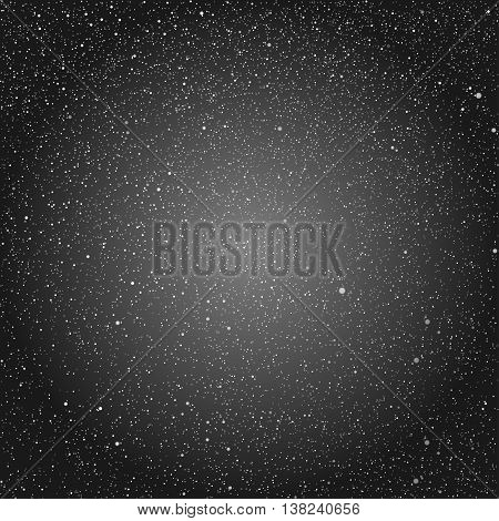 Vector background with snowflakes. Black ice storm.