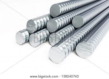 reinforcing steel. 3d Illustrations on a white background