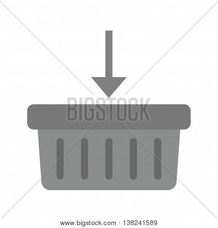 Basket, buy, purchase icon vector image. Can also be used for digital web. Suitable for mobile apps, web apps and print media.
