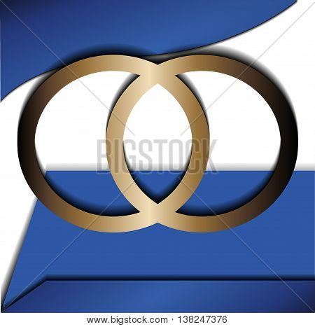 Blue background vector overlap dimension 3d graphic metal color message board for text and message design frame line shadow for modern web design eps10 infographic