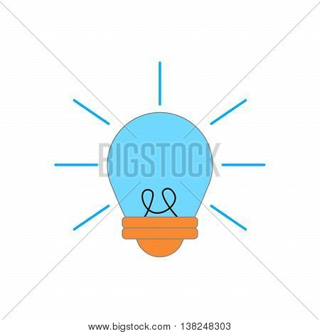 Light bulb sign ideas web icon vector design. Electricity idea power inspiration light bulb. Innovation bright concept light bulb. Creative light bulb invention illumination technology symbol.